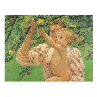 Baby Reaching for an Apple by Mary Cassatt Postcard