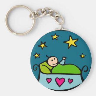 Baby Reaching for the Stars Keychain