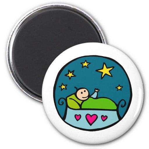 Baby Reaching for the Stars Fridge Magnet