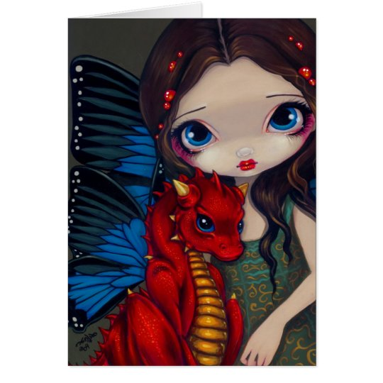 """""""Baby Red Dragon"""" Greeting Card"""