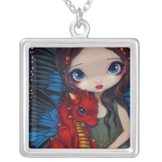 Baby Red Dragon NECKLACE fantasy fairy