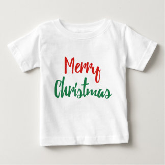 Baby Red Green Merry Christmas T Shirt Outfit