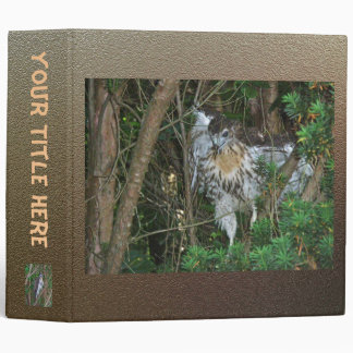 Baby Red Tailed Hawk Binder
