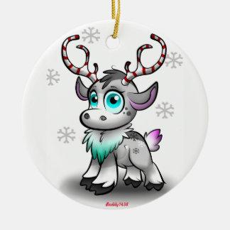 Baby Reindeer Ceramic Ornament