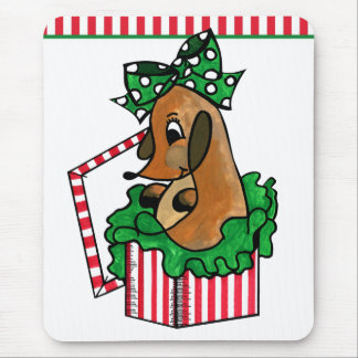 Baby Reindeer (or puppy) Holiday Gift Mouse Pad