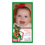 Baby Reindeer (or puppy) Holiday Gift Custom Photo Card
