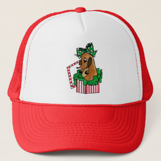 Baby Reindeer (or puppy) Holiday Gift Trucker Hat