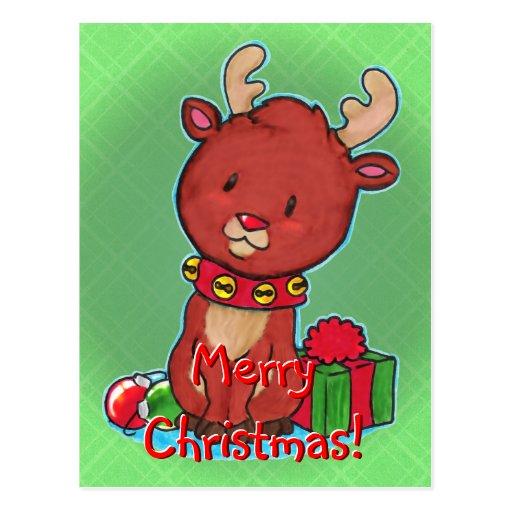 Baby Reindeer Postcard