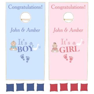 Baby Reveal Shower Game Cornhole Set