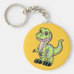Baby Rex custom Basic Round Button Keychain