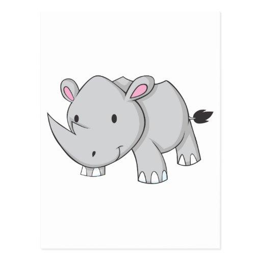 Baby Rhino Postcard
