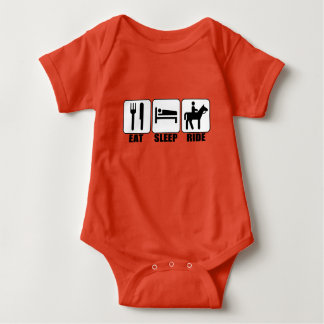Baby Rider Eat Sleep Ride a Horse Cute Equestrian Baby Bodysuit
