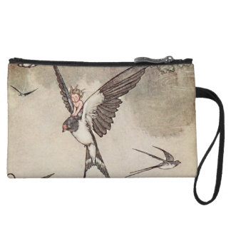 Baby Riding Sparrow Andersen's Fairy Tales Wristlet Clutches