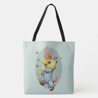 BABY RIUS  CARTOON All-Over-Print Tote Bag Large