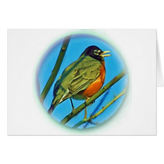 Baby Robin Card