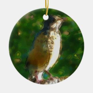Baby Robin Ceramic Ornament