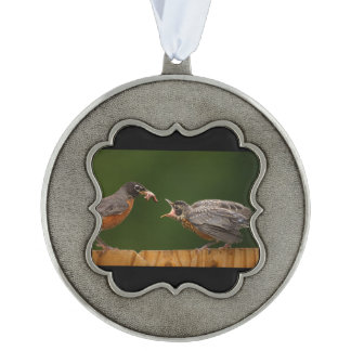 Baby Robin Pewter Ornament