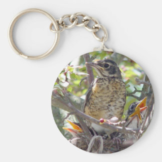Baby Robins in the nest Keychain 2