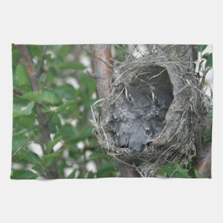 Baby Robins in the Nest Towel