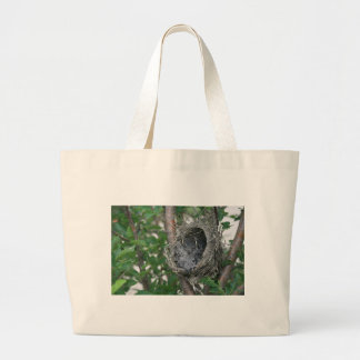 Baby Robins in the Nest Large Tote Bag