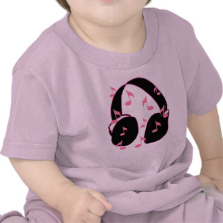 Baby Rock!  Headset with Musical Notes Pink Shirt