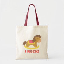 Baby Rocking Horse, I Rock Awesome Tote Bag