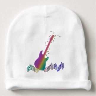 Baby Rockstar Rainbow Guitar Beanie