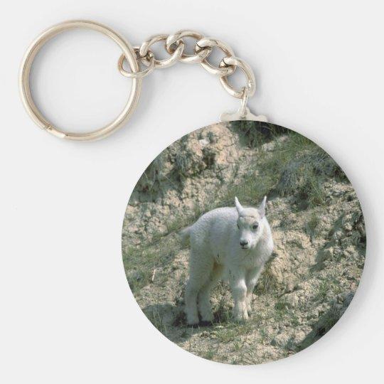Baby Rocky Mountain Goat Keychain