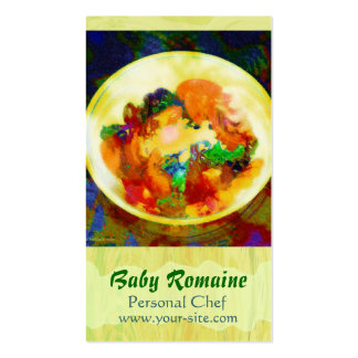 Baby Romaine Personal Chef Business Card Templates