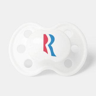 Baby Romney Logo Pacifier