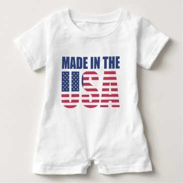 USA Themed Baby Romper Made in the USA
