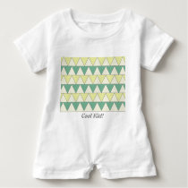 """Baby Romper TRIANGLE PATTERN """"Cool Kid"""""""