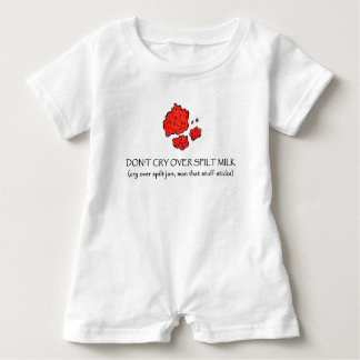 Baby Romper with fake jam spill