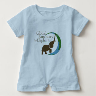 Baby romper with logo