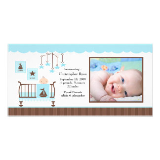 Baby Room Boy PHOTO Birth Announcement Photo Card