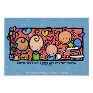 Baby room for of toddlers, toys and love.9x13 BLUE Posters