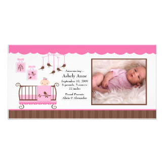 Baby Room Girl PHOTO Birth Announcement Photo Card