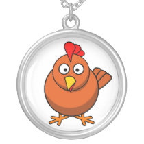 Baby Rooster Cartoon Necklace