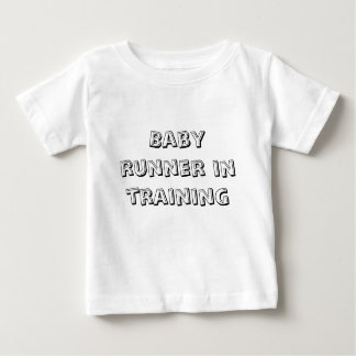 Baby runner in training tees