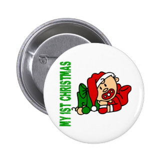 Baby's 1st Christmas BOY 2 Inch Round Button