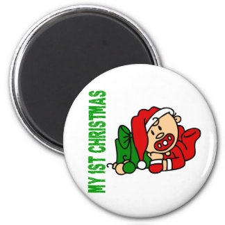 Baby's 1st Christmas BOY 2 Inch Round Magnet