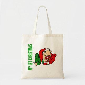 Baby's 1st Christmas BOY Budget Tote Bag