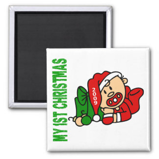 Baby's 1st Christmas Dated BOY 2 Inch Square Magnet