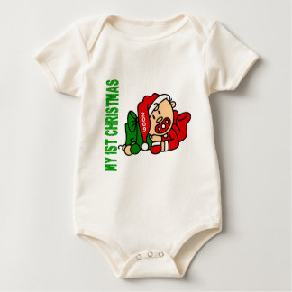 Baby's 1st Christmas Dated BOY Creeper