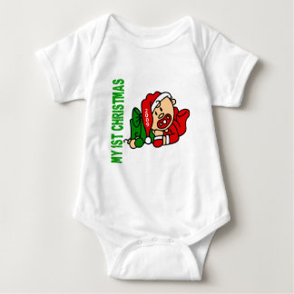 Baby's 1st Christmas Dated BOY T-shirts