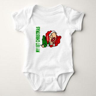 Baby's 1st Christmas Dated BOY Tshirt