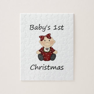 Baby s 1st Christmas girl Jigsaw Puzzle