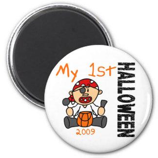 Baby's 1st Halloween 2009 Pirate BOY 2 Inch Round Magnet