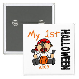 Baby's 1st Halloween 2009 Pirate BOY 2 Inch Square Button