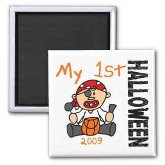 Baby's 1st Halloween 2009 Pirate BOY 2 Inch Square Magnet